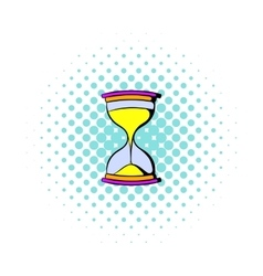 Hourglass icon in comics style vector