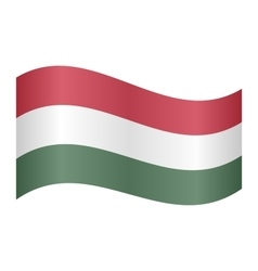 Flag of hungary waving vector