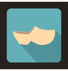Clogs icon flat style vector
