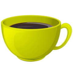 A cup of hot coffee vector