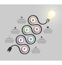 Abstract technology infographics design template vector