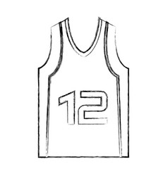 basketball shirt uniform icon vector image