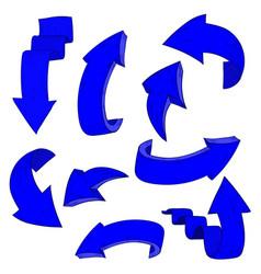 blue arrows hand drawn sketch vector image