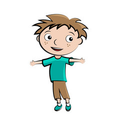 cartoon child happy boy avatar vector image vector image