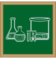 Chemistry flask glass vector