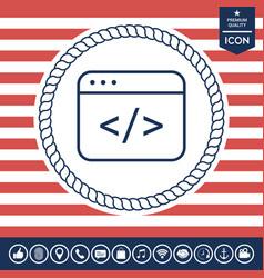 code editor icon vector image vector image