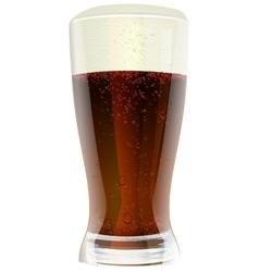 Dark beer in glass vector