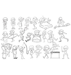 Doodle design of people vector image vector image