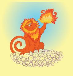 fiery monkey 2 vector image vector image
