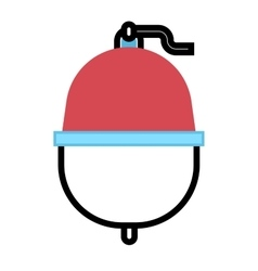 Fishing bobber float flat icon vector image