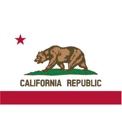 Flag of the state of california vector