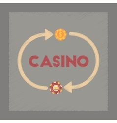 flat shading style icon casino chips vector image