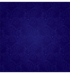 Floral seamless pattern on a violet background vector image