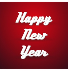 Happy new year holidays modern paper like text vector