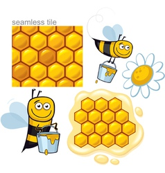 Honeybee elements vector