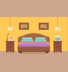 Hotel room interior vector