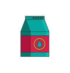 isolated bottle of milk flat cartoon vector image