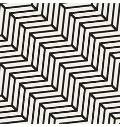 Seamless black and white chevron line vector