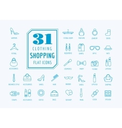 Shopping icons set e-commerce symbols vector