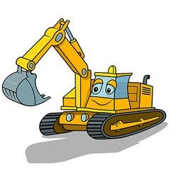 Smiling excavator vector