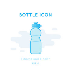 Sport bottle icon isolated on white vector