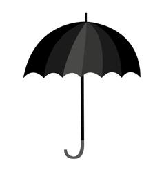umbrella black isolated icon vector image vector image