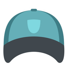 Winter hat icon isolated vector