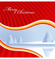 Christmas card with trees vector