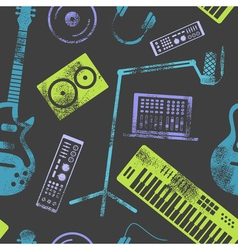 MusicProductionPattern2 vector image
