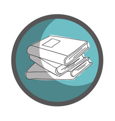 Textbook library isolated icon vector