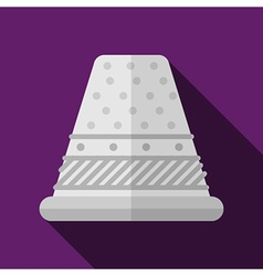 Flat icon for sewing thimble vector