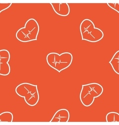 Orange cardiology pattern vector