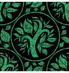 floral back logo 0004 grunge seamless vector image