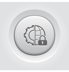 Global security icon vector