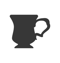 Coffee mug silhouette icon drink design vector