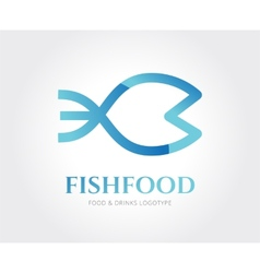 Abstract fish logo template for branding vector image