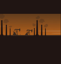 bad environment with industry pollution scenery vector image vector image