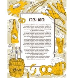 Beer banner or flyer good as a template of vector