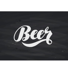 Beer label hand lettering vector