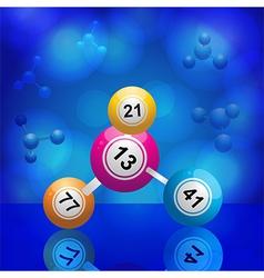 Bingo balls molecule vector image