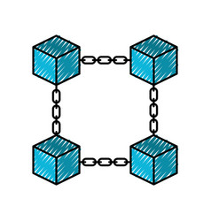 Block chain business technology concept digital vector