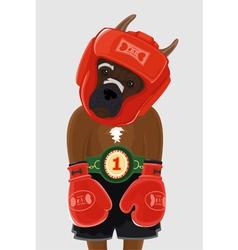 Boxer dog vector