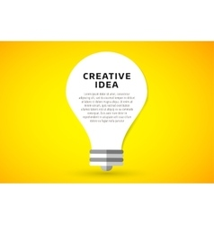 Bulb lamp light idea background vector image vector image