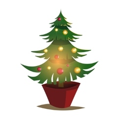 Christmas tree of decorated vector image vector image