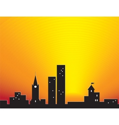 city sunset vector image vector image