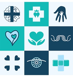 clinic logo icons vector image vector image
