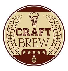 Craft brew icon vector
