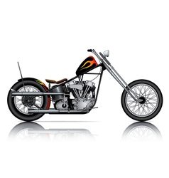 custom chopper vector image vector image