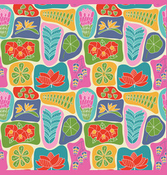 cute wallpaper with beauty flat style tropical vector image vector image