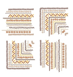 Design elements with ethnic handmade ornament vector image
